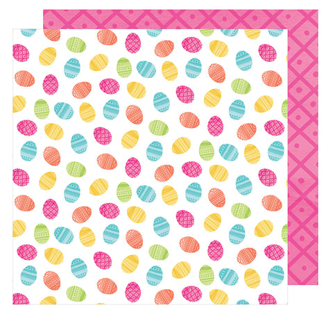 American Crafts Papers - Hello Spring - Chummy Bunny - 2 Sheets
