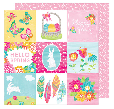American Crafts Cut-Outs - Hello Spring - Sunny Bunny