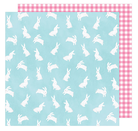 American Crafts Papers - Hello Spring - Easter Bunny - 2 Sheets