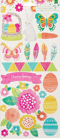 American Crafts Cardstock Stickers - Hello Spring