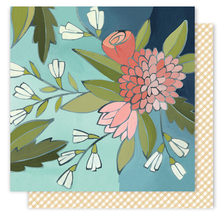 1Canoe2 Papers - Creekside - Gathering Flowers - 2 Sheets