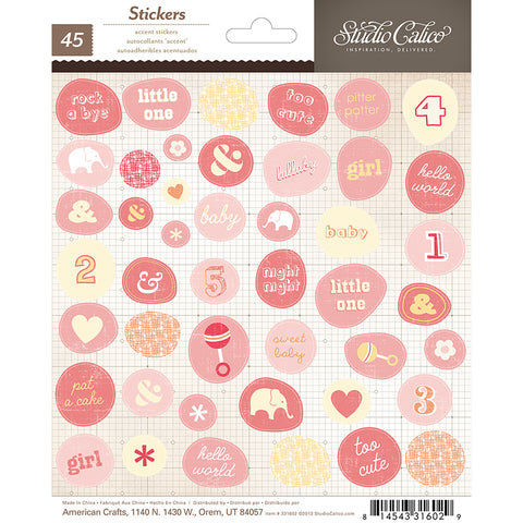 Studio Calico Cardstock Stickers - Story Time - Girl Accents