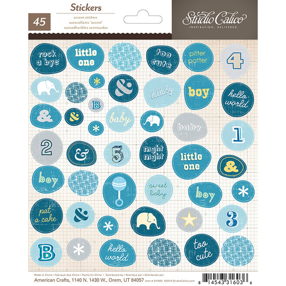 Studio Calico Cardstock Stickers - Story Time - Boy Accents