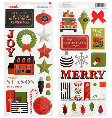 American Crafts Cardstock Stickers - Tis the Season