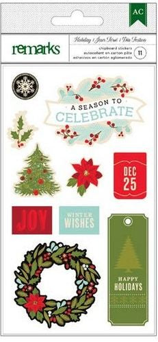 American Crafts Chipboard - Holiday Celebrate