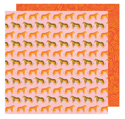 American Crafts Papers - Amy Tangerine - Hustle & Heart - Hear Me Roar - 2 Sheets