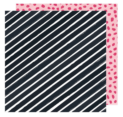 American Crafts Papers - Amy Tangerine - Hustle & Heart - In Alignment - 2 Sheets