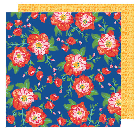 American Crafts Papers - Amy Tangerine - Hustle & Heart - Coming Up Roses - 2 Sheets