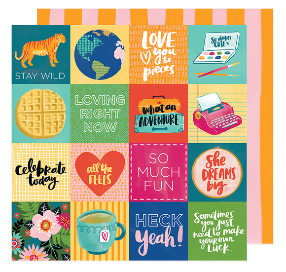 American Crafts Cut-Outs - Amy Tangerine - Hustle & Heart - Fit to Be Square