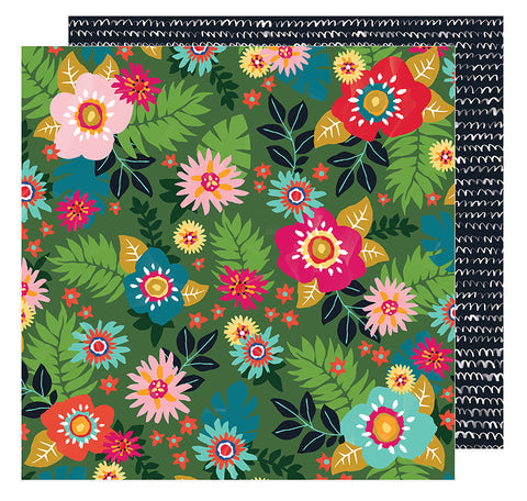 American Crafts Papers - Amy Tangerine - Hustle & Heart - Floral Sensation - 2 Sheets