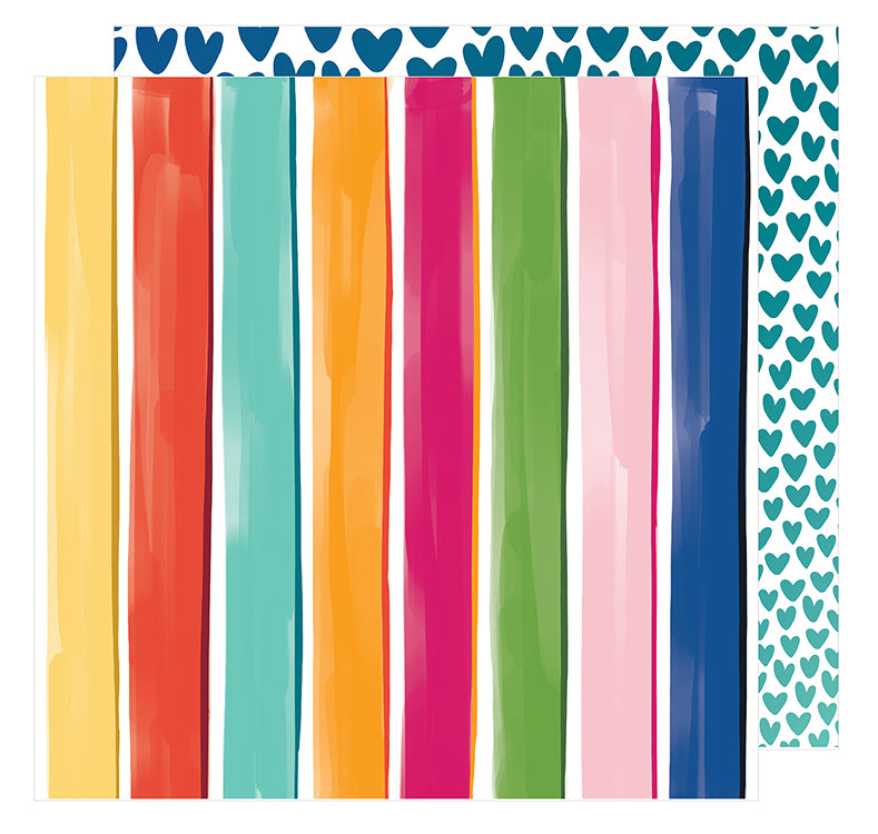 American Crafts Papers - Amy Tangerine - Hustle & Heart - The Bright Side - 2 Sheets