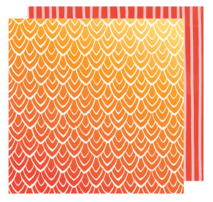 American Crafts Papers - Amy Tangerine - Hustle & Heart - Hello Sunrise - 2 Sheets