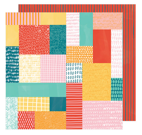 American Crafts Papers - Amy Tangerine - Hustle & Heart - Patchwork Show - 2 Sheets