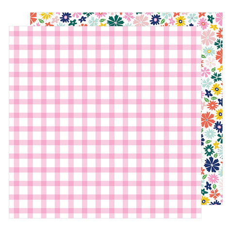 American Crafts Papers - Dear Lizzy - Star Gazer - Happy - 2 Sheets