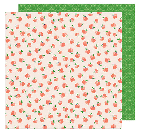 American Crafts Papers - Dear Lizzy - Star Gazer - Just Peachy - 2 Sheets