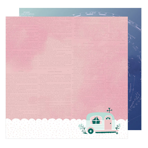American Crafts Papers - Dear Lizzy - Star Gazer - Magical - 2 Sheets