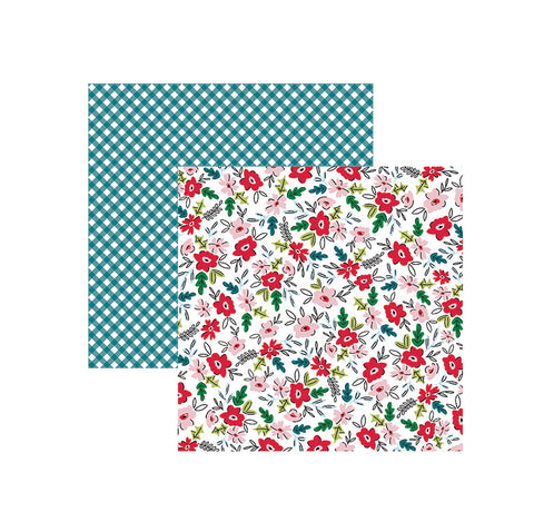 American Crafts Papers - Sweater Weather - January Blossoms - 2 Sheets
