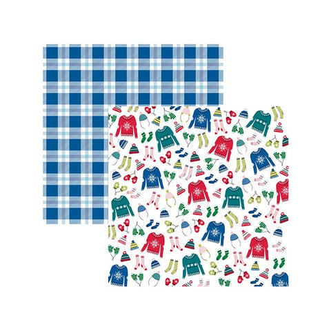 American Crafts Papers - Sweater Weather - Bundle Up - 2 Sheets