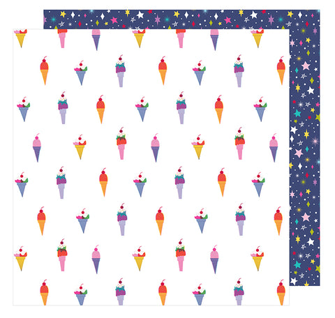American Crafts Papers - Shimelle - Glitter Girl - Treat Yourself - 2 Sheets