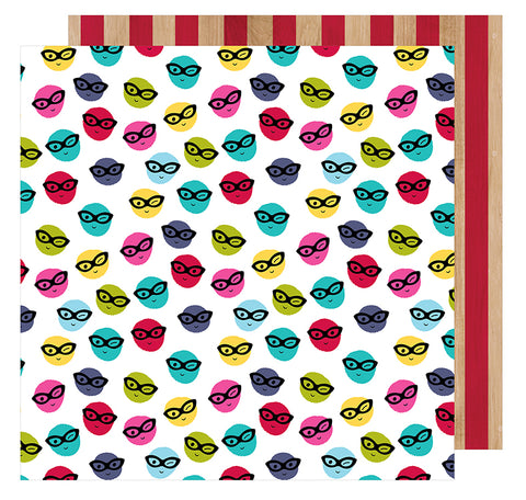 American Crafts Papers - Shimelle - Glitter Girl - Go Incognito - 2 Sheets