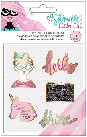 American Crafts Charms - Shimelle - Glitter Girl