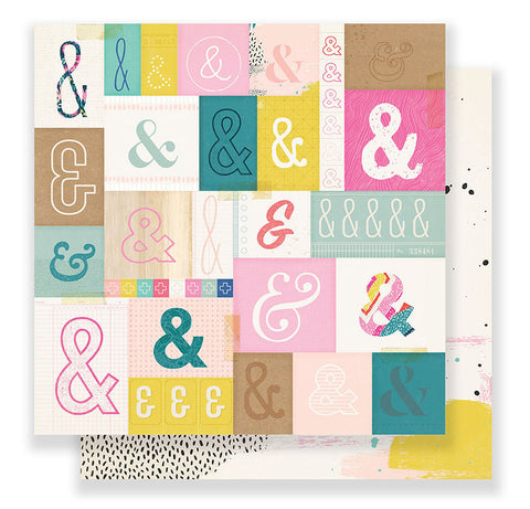 Crate Paper Papers - Good Vibes - Serious Fun - 2 Sheets