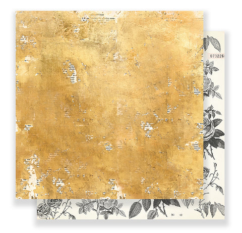 Crate Paper Papers - Maggie Holmes - Flourish - Goldenrod - 2 Sheets