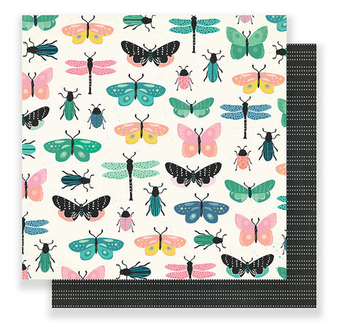 Crate Paper Papers - Maggie Holmes - Flourish - Charming - 2 Sheets