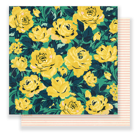 Crate Paper Papers - Maggie Holmes - Flourish - Grandiflora - 2 Sheets
