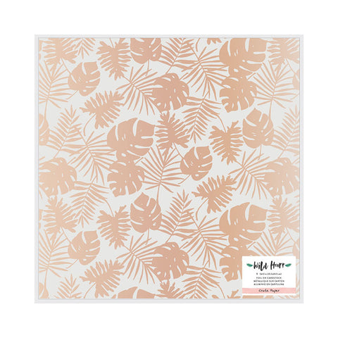 Pink Paislee Specialty Papers - Auburn Lane - Vellum/Foil - 2 Sheets