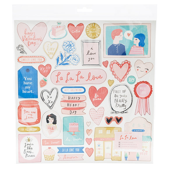 Crate Paper 12x12 Chipboard - La La Love