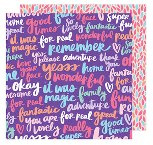American Crafts Papers - Amy Tangerine - Sunshine & Good Times - Yesss Please - 2 Sheets