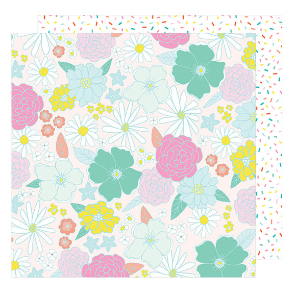 American Crafts Papers - Dear Lizzy - Stay Colorful - Far Out - 2 Sheets