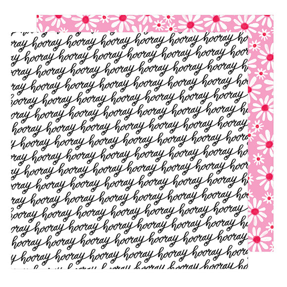 American Crafts Papers - Dear Lizzy - Stay Colorful - Let's Boogie - 2 Sheets