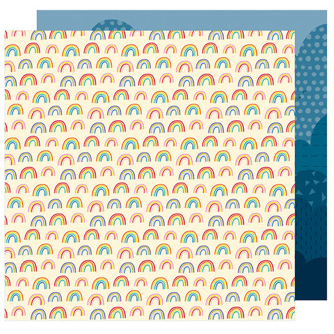 American Crafts Papers -Shimelle - Box of Crayons - In the Sky - 2 Sheets