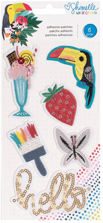 American Crafts Adhesive Patches - Shimelle - Box of Crayons
