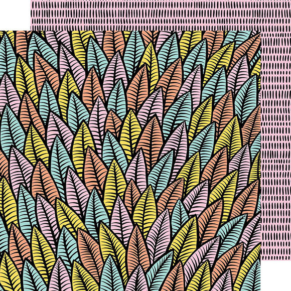 American Crafts Papers - Amy Tangerine - Shine On - Alive - 2 Sheets
