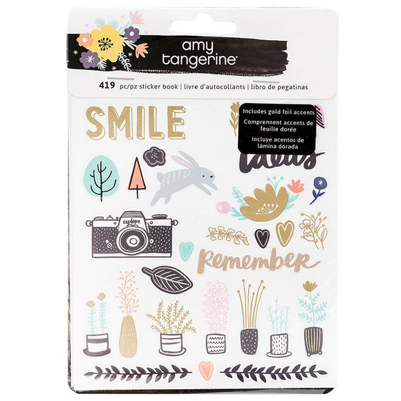American Crafts Sticker Book - Amy Tangerine - Shine On