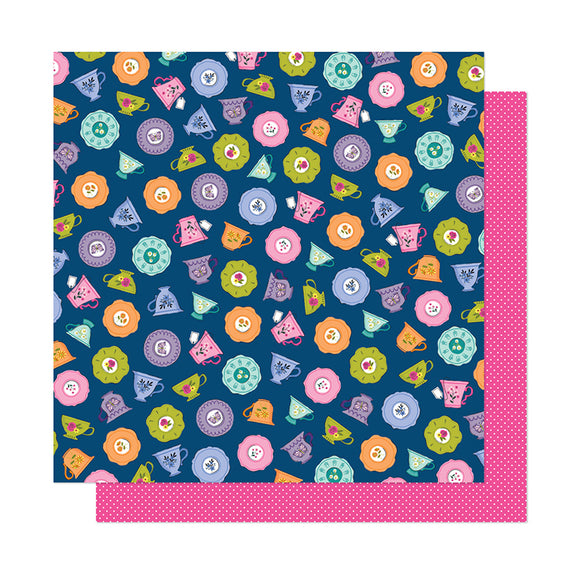 American Crafts Papers - Shimelle - Head In the Clouds - Time for Tea - 2 Sheets