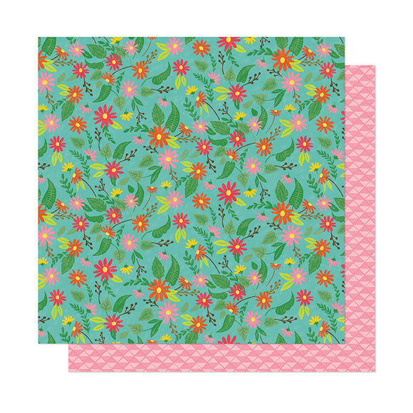 American Crafts Papers - Dear Lizzy - New Day - Flower Child - 2 Sheets