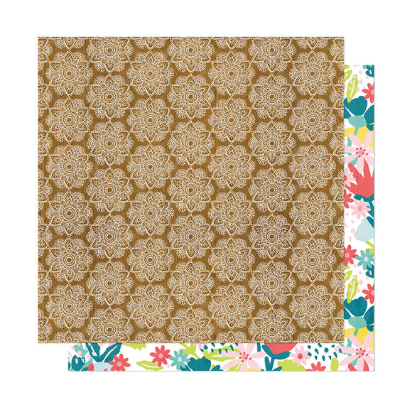 American Crafts Papers - Dear Lizzy - New Day - Namaste - 2 Sheets