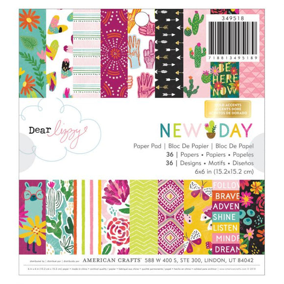 American Crafts 6x6 Paper Pad - Dear Lizzy New Day