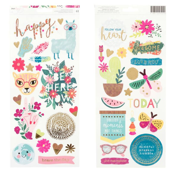 American Crafts Cardstock Stickers - Dear Lizzy - New Day