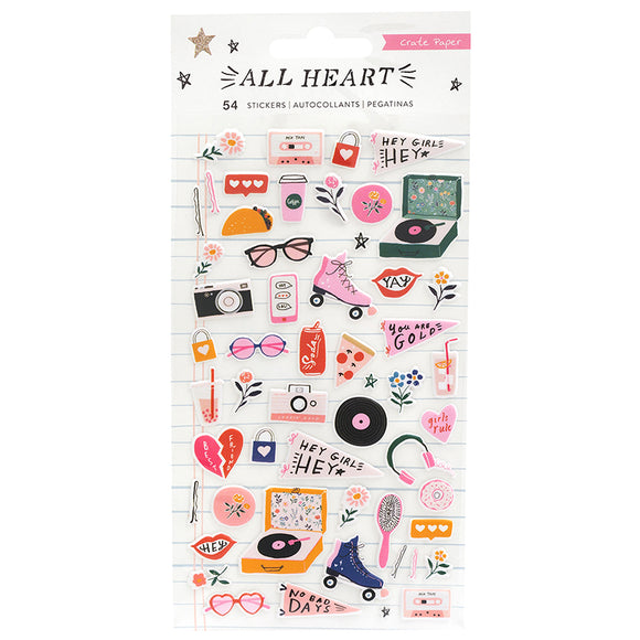 Crate Paper Puffy Stickers - All Heart