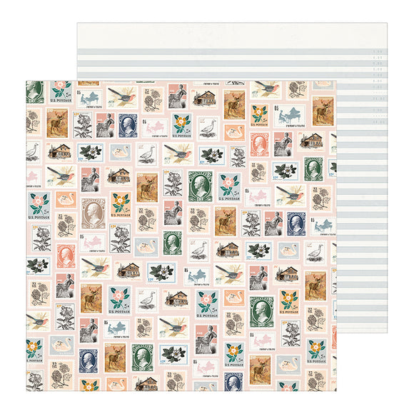 Crate Paper Papers - Maggie Holmes - Heritage - Postmarked - 2 Sheets