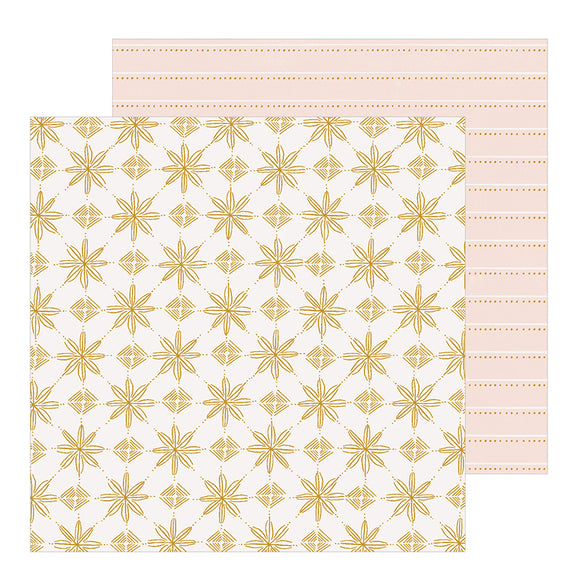 Crate Paper Papers - Snowflake - Snowcapped - 2 Sheets