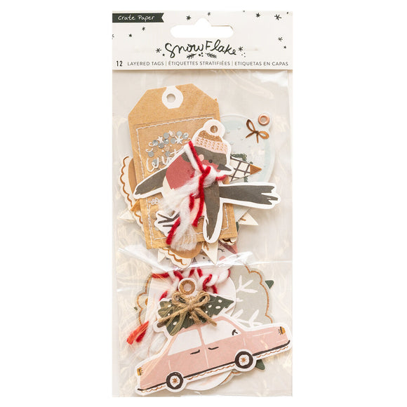 Crate Paper Layered Tags - Snowflake