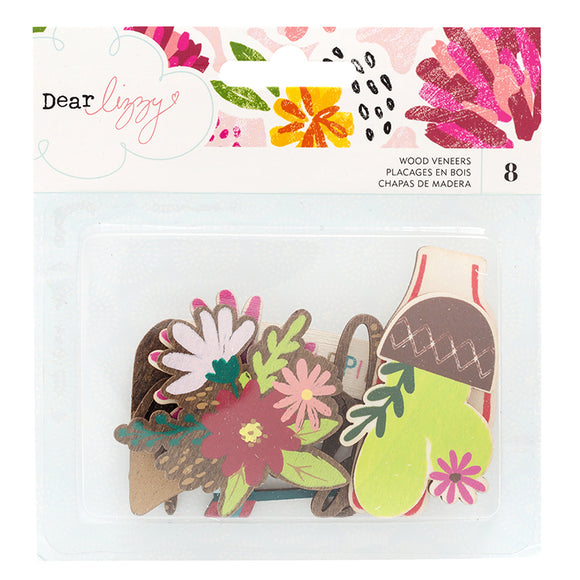 American Crafts Wood Veneer - Dear Lizzy - New Day - Foil Accents