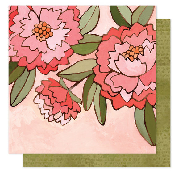 1Canoe2 Papers - Saturday Afternoon - Pink Peony - 2 Sheets