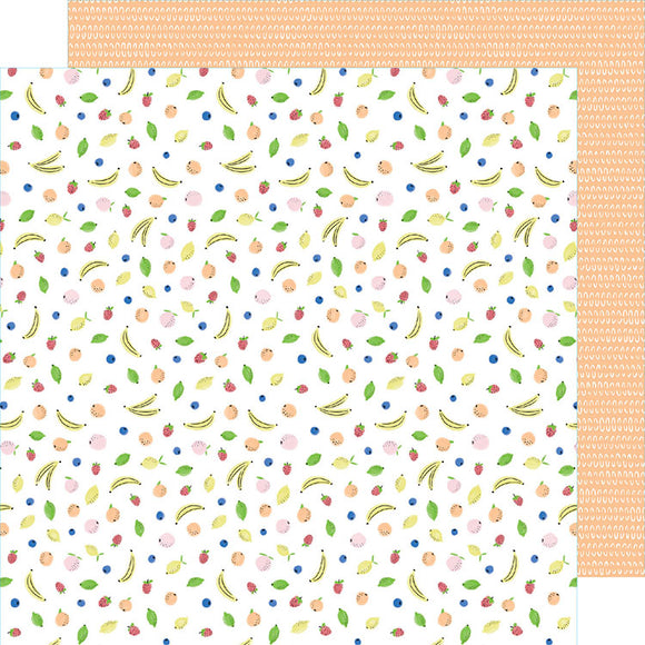 American Crafts Papers - Amy Tangerine - Stay Sweet - Fruit Cocktail - 2 Sheets
